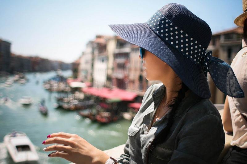 On Rialto Bridge, Venice, Italy