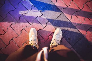 Man in Stylish Gold Shoes Crazy Colorful Edit