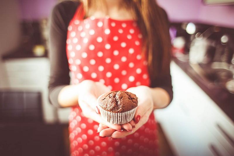 little Homemade Muffin in Hands