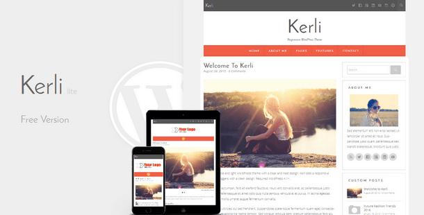Kerli lite - Personal Minimalist WordPress Theme