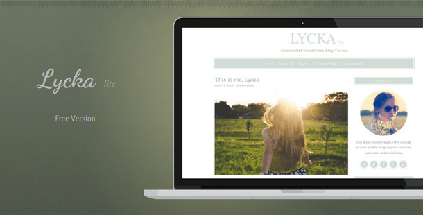 Lycka - Minimal Responsive WordPress Theme