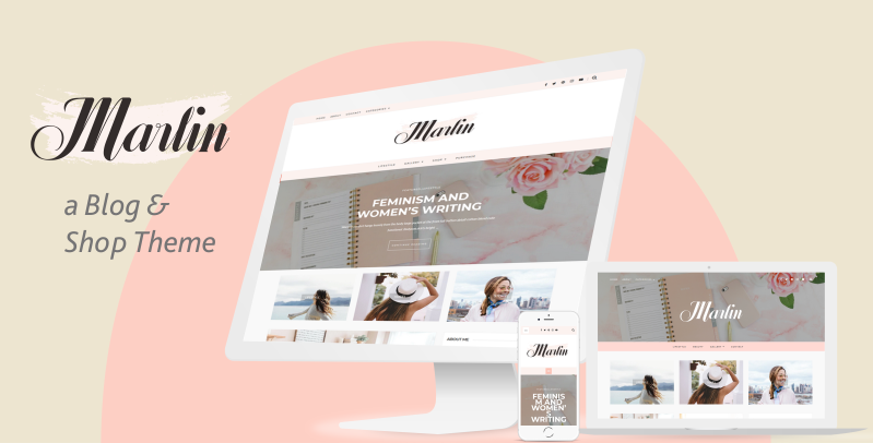 Marlin - Feminine WordPress Theme