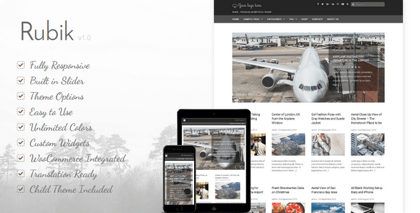 Rubik - Responsive WordPress Theme
