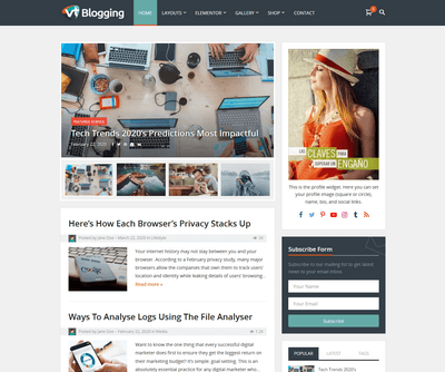 VT Blogging Pro WordPress Theme