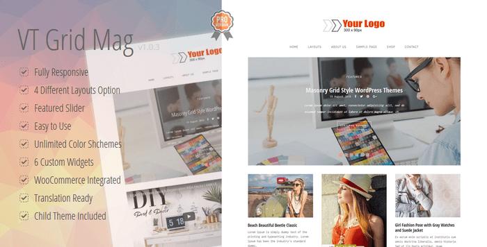 VT Grid Mag - Masonry Grid Style WordPress Theme