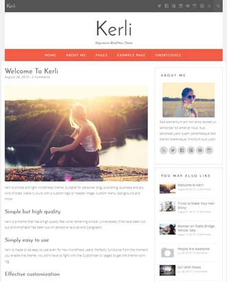 Kerli Lite - Free Feminine WordPress Theme