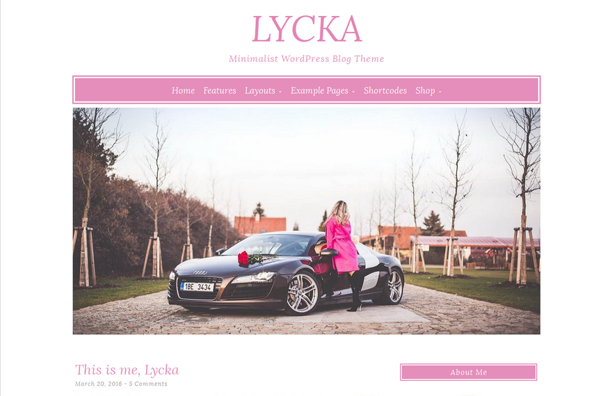 Lycka WordPress Theme