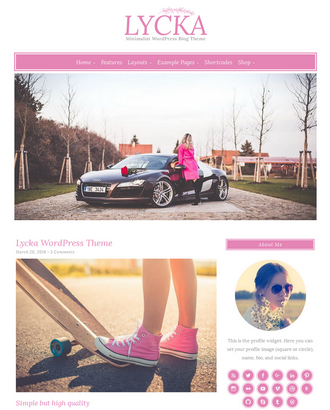 Lycka - Feminine WordPress Theme