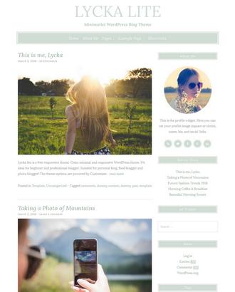 Lycka lite - Free Feminine WordPress Theme