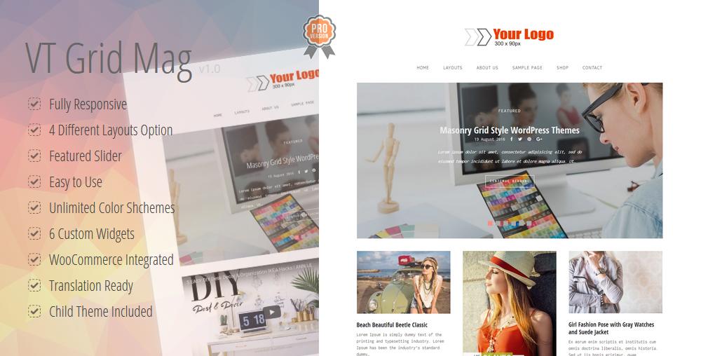 VT Grid Mag Pro WordPress Theme