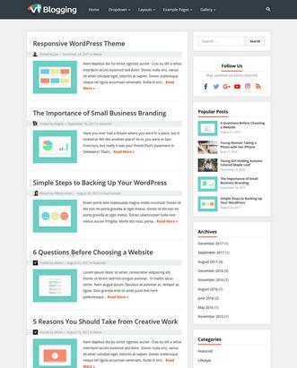 VT Blogging - Free Responsive WordPress Theme