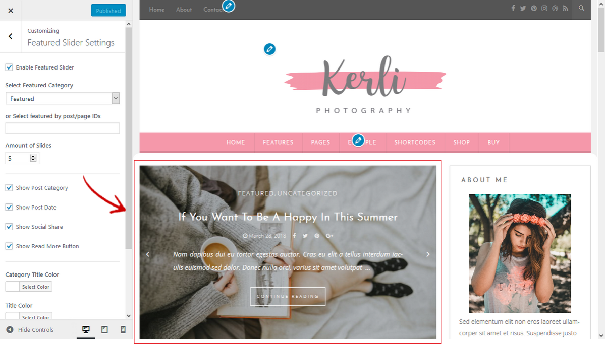 kerli featured slider