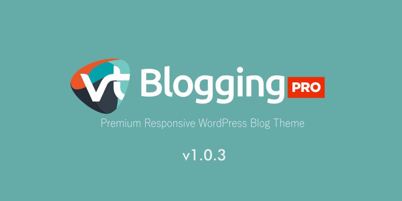 VT Blogging Pro Update Notes