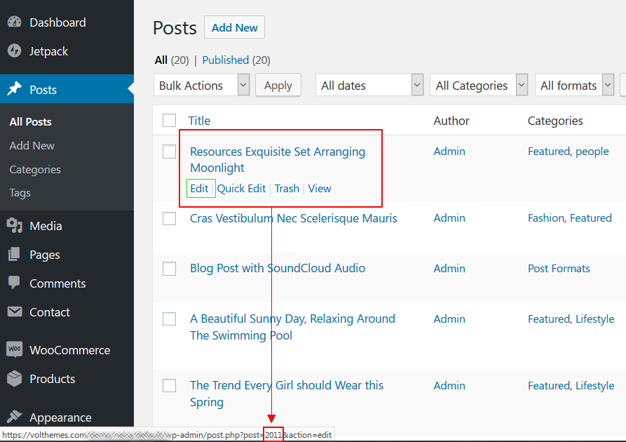 How to Find the Post/Page ID in WordPress