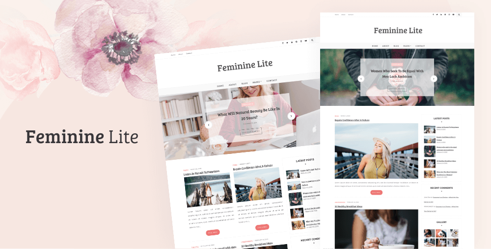 Feminine Lite WordPress Theme