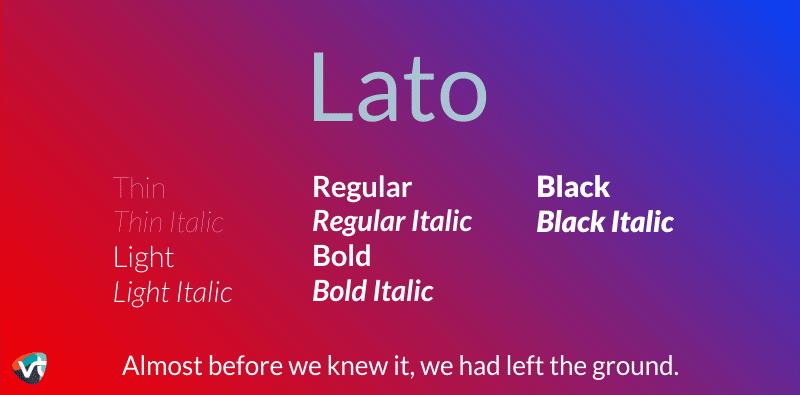 Lato Font Family