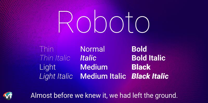 Roboto Font Family