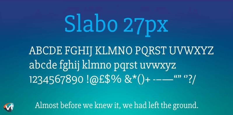 Slabo 27px Font Family